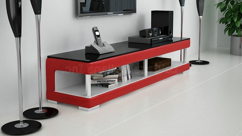 2017 Red Modern Tv Stands Throughout La Casa Italiana Inc. – Tvt804 Modern Tv Stand (Gallery 4 of 20)