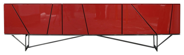 2017 Red Modern Tv Stands With Regard To Rostock Modern Red Tv Stand – Contemporary – Entertainment Centers (Gallery 20 of 20)