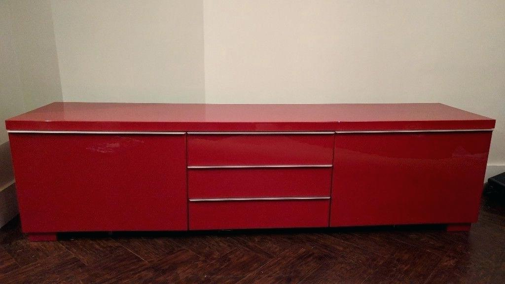 2017 Red Tv Cabinet Chromium 2 Red Cabinet For Red Ikea Red Gloss Tv With Red Gloss Tv Stands (View 2 of 20)