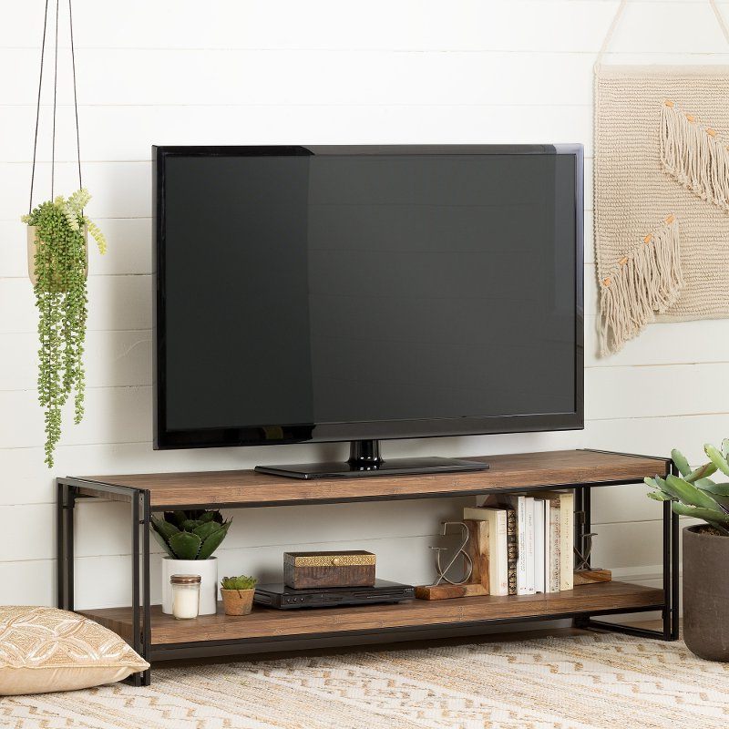 2017 Rustic 60 Inch Tv Stands Within 60 Inch Rustic Bamboo Tv Stand – Gimetri (View 1 of 20)