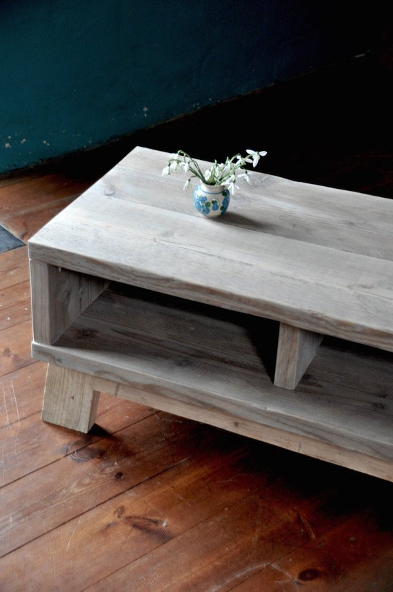 2017 Rustic Coffee Table And Tv Stand With Regard To Rustic Coffee Table With Storage Reclaimed Industrial Custom (Gallery 19 of 20)