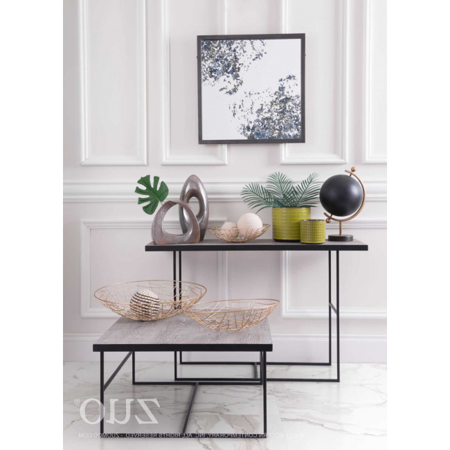 2017 Scattered Geo Console Tables Within A10725 – Forest Console Table Black (View 2 of 20)