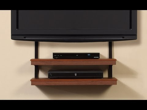 2017 Shelves For Tvs On The Wall In Tv Wall Mount With Shelves – Floating Tv Wall Mount Shelf With Clear (Gallery 2 of 20)
