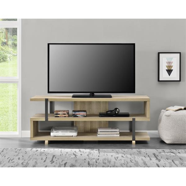 2017 Shop Avenue Greene Ashbridge Brown Oak Tv Stand For Tvs Up To 70 Regarding Tv Stands For 70 Inch Tvs (View 1 of 20)