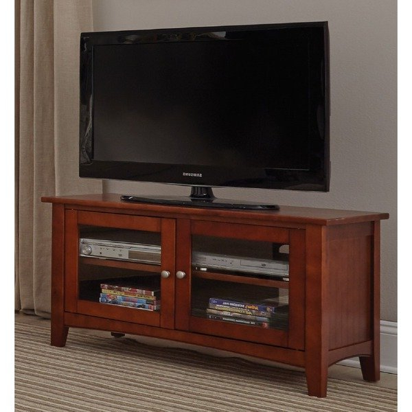 2017 Shop Copper Grove Taber 36 Inch Wood Tv Stand With Glass Doors With Wood Tv Stand With Glass (View 1 of 20)