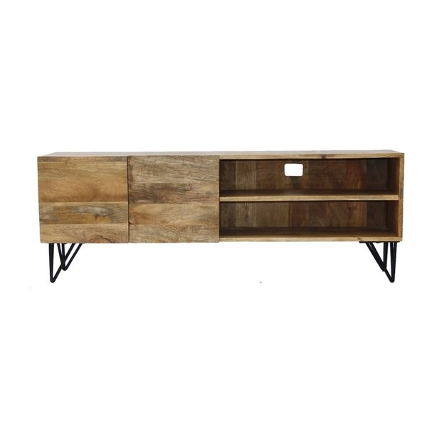 2017 Shop The Urban Port Industrial Style Tv Stand With Storage Cabinet Pertaining To Industrial Style Tv Stands (Gallery 8 of 20)