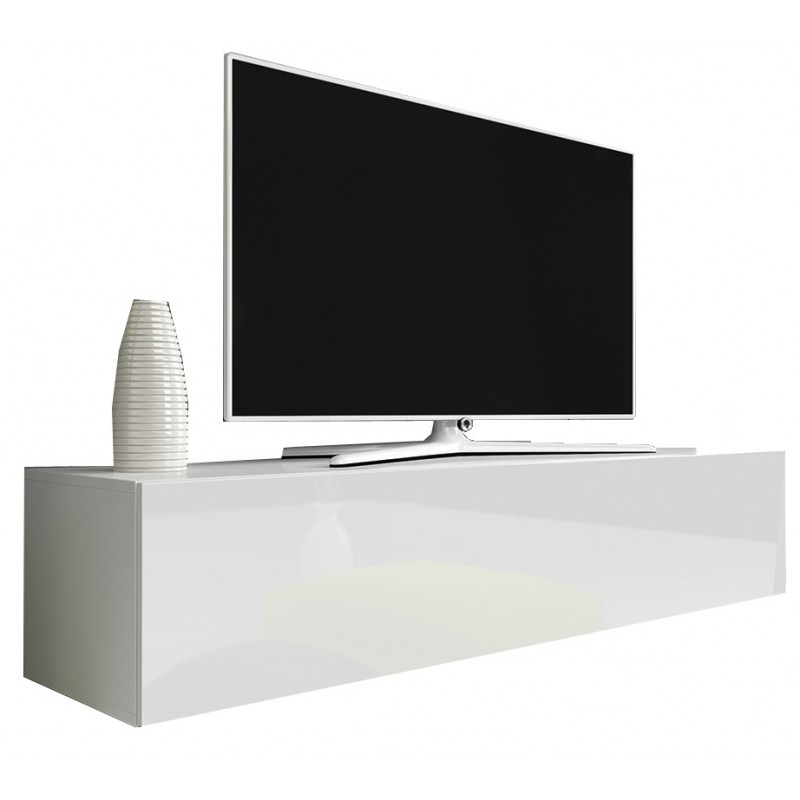2017 Tv Cabinet With Led Lighting 150 Cm / White + Black High Gloss Inside White High Gloss Tv Unit (View 15 of 20)