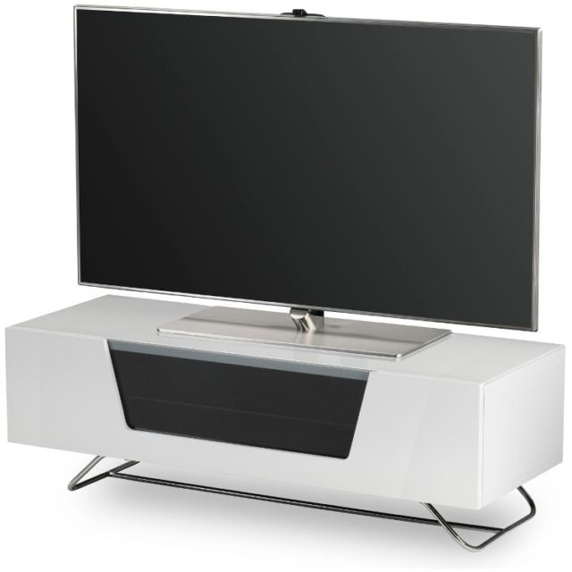 2017 Tv Stands For Large Tvs With Alphason Chromium 1200 White Tv Stand For Large Screen Tvs (Gallery 13 of 20)