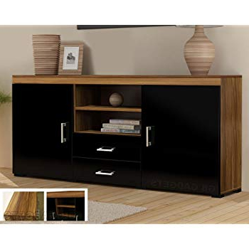 2017 Tv Stands With Drawers And Shelves For Wood Tv Stand Sideboard Tv Unit Cabinet With Drawers: Amazon.co (View 19 of 20)