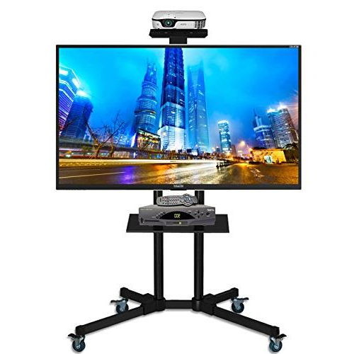 2017 Valencia 70 Inch Tv Stands Intended For Duramex (Tm) Universal Mobile Tv Cart Tv Stand With Mount For  (View 1 of 20)