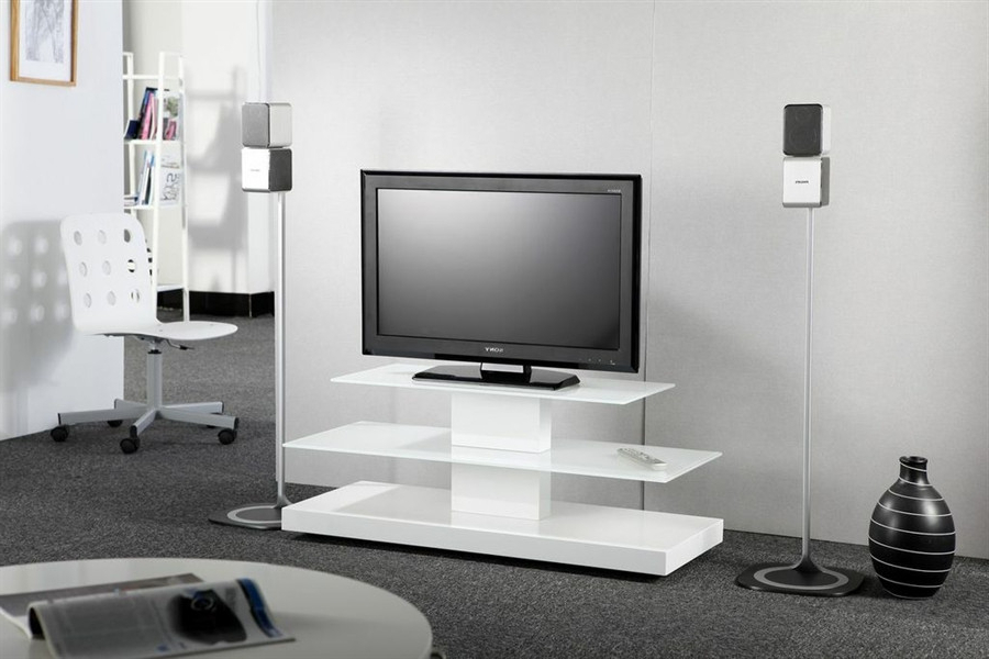 2017 White Contemporary Tv Stands With Regard To Modern Contemporary Tv Stands For Flat Screen — All Contemporary (View 9 of 20)