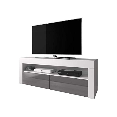 2017 White High Gloss Tv Unit: Amazon.co (View 1 of 20)