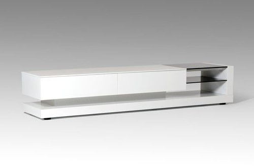 2017 White Modern Tv Stands Pertaining To Modrest Mali Modern White Tv Stand (Gallery 19 of 20)