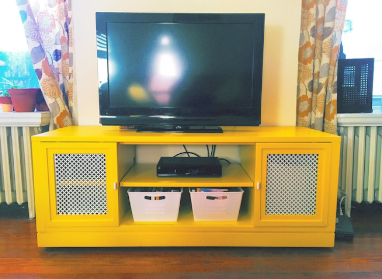 2017 Yellow Tv Stands Pertaining To Tv Stands (View 7 of 20)