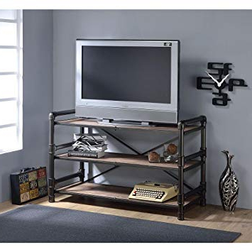 2018 Amazon: Major Q Industrial Style Tv Stand Living Room With Regard To Rectangular Tv Stands (View 3 of 20)