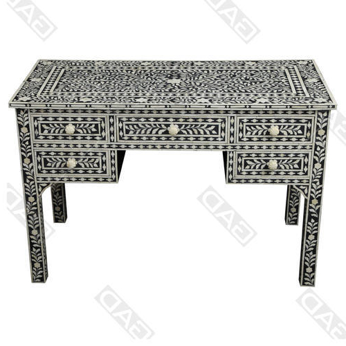 2018 Black And White Inlay Console Tables For Black And Ivory Gad Ethereal Bone Inlay Console Table, Rs  (View 1 of 20)