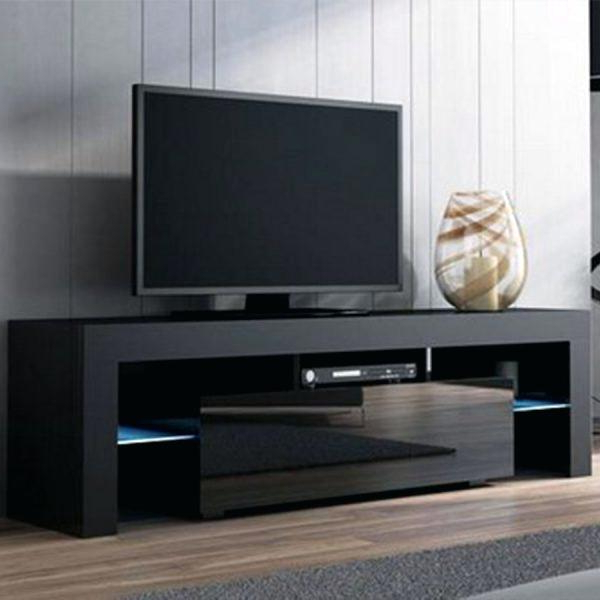2018 Cheap Black Tv Stands Best Walker Stand With Electric Fireplace Intended For Black High Gloss Corner Tv Unit (Gallery 18 of 20)