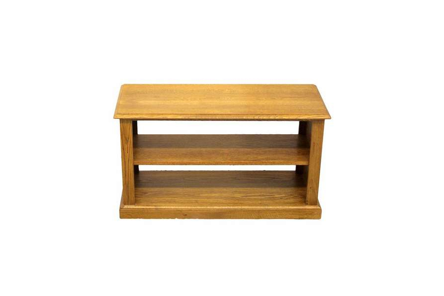 2018 Contemporary Solid Oak Low Open Shelf Tv Stand (Gallery 12 of 20)