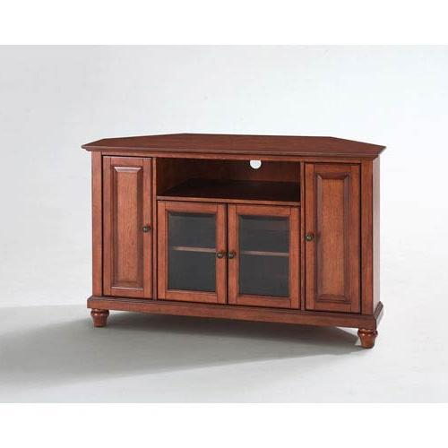 2018 Corner Tv Cabinets In Crosley Furniture Cambridge 48 Inch Corner Tv Stand In Classic (View 2 of 20)