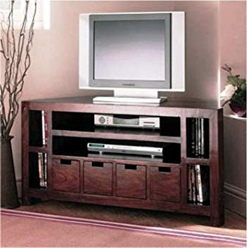 2018 Daintree Erica Tv Unit Cabinet (Lacquer Finish, Dark Walnut): Amazon For Daintree Tv Stands (Gallery 10 of 20)