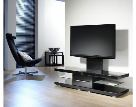 "2018 Echo Black Cantilever Tv Unit For Tvs Up 60"" (Gallery 15 of 20)"
