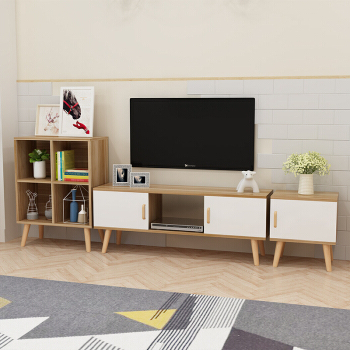 2018 Ezhome Tv Cabinet With Tv Cabinets And Coffee Table Sets (View 3 of 20)