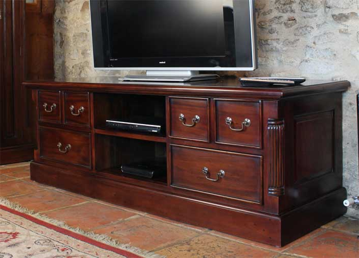 2018 Featured Product – La Roque Mahogany Widescreen Tv Cabinet (View 7 of 20)