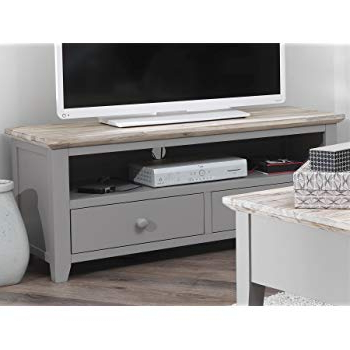 2018 Grey Tv Stands In Florence Tv Unit With 2 Drawers (View 1 of 20)