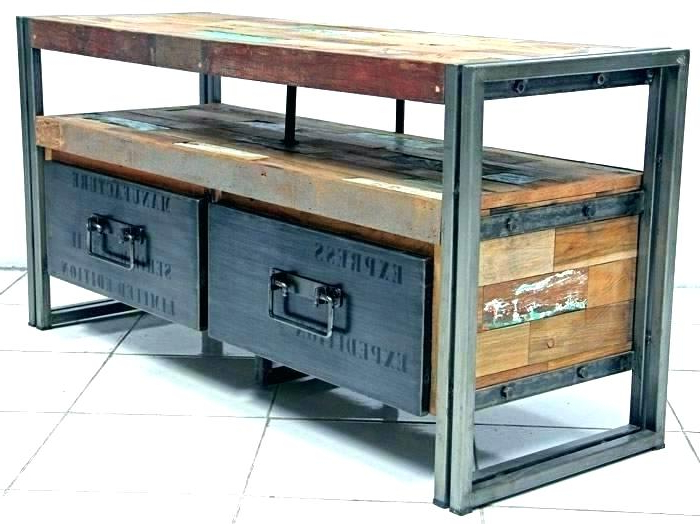 2018 Industrial Corner Tv Stands With Industrial Metal Corner Tv Stand Style Cabinet St – Marineaquariumexpo (View 1 of 20)