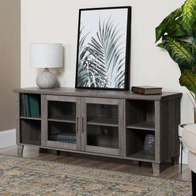 2018 Kenzie 72 Inch Open Display Tv Stands In Gray – Tv Stands – Living Room Furniture – The Home Depot (Gallery 9 of 20)