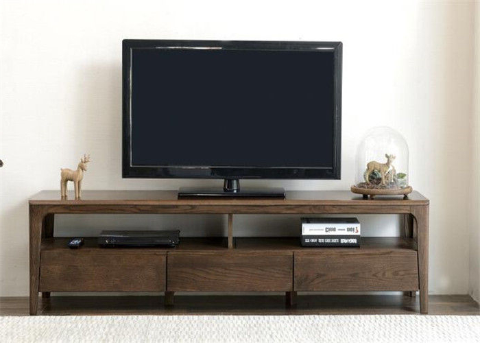 2018 Long Rustic Wood Tv Stand With Storage , Practical Pine Solid Wood Intended For Solid Pine Tv Cabinets (View 1 of 20)