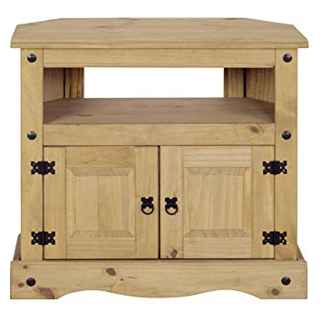 2018 Mews Corona Corner Tv Unit/stand, Mexican Solid Pine: Amazon.co.uk With Pine Corner Tv Stands (Gallery 10 of 20)