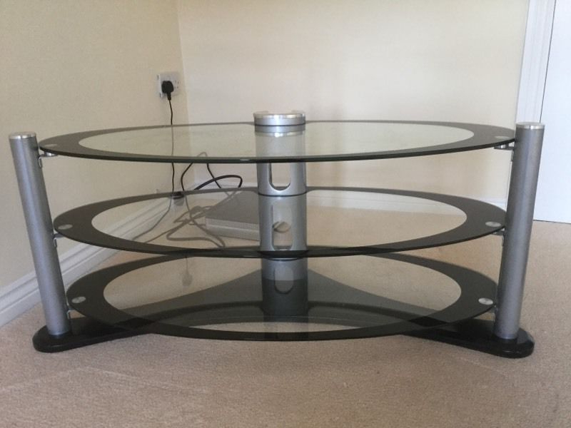 2018 Oval Glass Tv Stand (View 1 of 20)