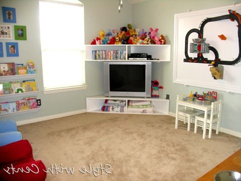 2018 Playroom Tv Stands With Playroom – I Like The Corner Tv Stand (Gallery 1 of 20)