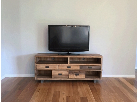 2018 Rustic Industrial Tv Entertainment Unit (View 1 of 20)