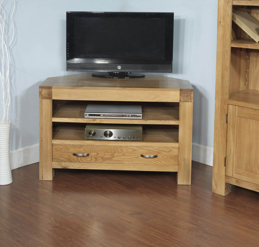 2018 Santana Oak Tv Furniture Pertaining To Santana Blonde Oak Corner Tv Cabinet (Gallery 4 of 20)