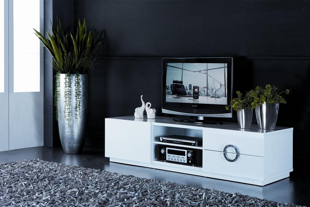 2018 Shiny Tv Stands With Tv Stands: Stunning Highboy Tv Stand White Design Collection Black (View 6 of 20)