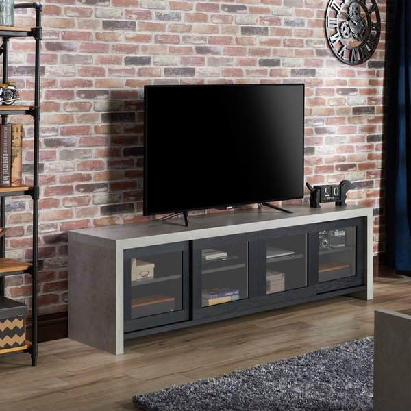 2018 Shop Carbon Loft Whitworth Industrial Cement Like Multi Storage Tv Pertaining To Storage Tv Stands (View 1 of 20)