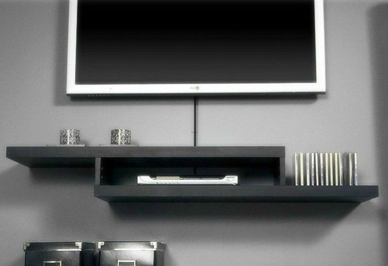 2018 Sign Up To See The Rest Of What's Here! All White Floating Tv Wall In Console Tables Under Wall Mounted Tv (View 2 of 20)