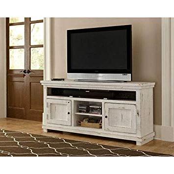 2018 Sinclair White 64 Inch Tv Stands With Amazon: Progressive Furniture P610E 64 Willow Console, 64 (Gallery 2 of 20)