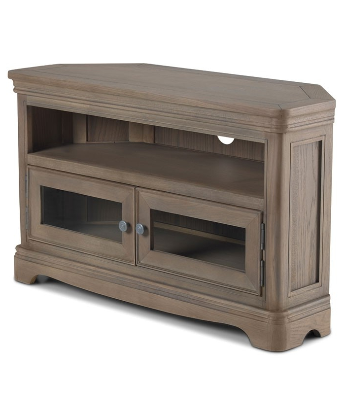 2018 Toulouse Grey Washed Oak Corner Tv Unit – Brand Interiors With Oak Corner Tv Cabinets (View 1 of 20)