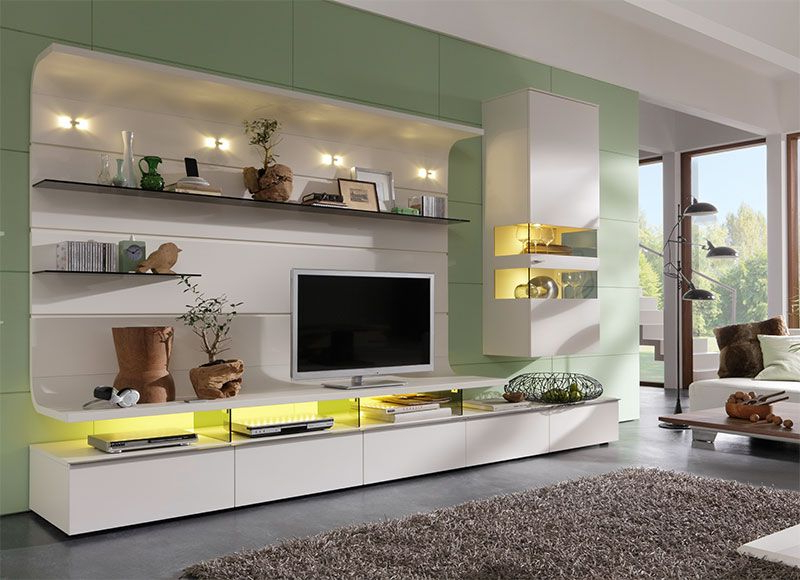 2018 Tv Units With Storage Intended For Modern Felino Wall Storage System/tv Unit, Display Cabinet/choice Of (View 1 of 20)