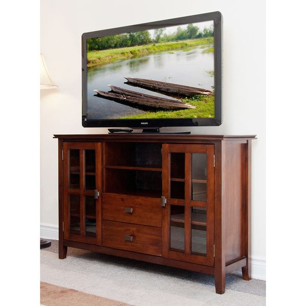 2018 Very Tall Tv Stands Regarding Stratford Collection Tall Tv Stand – Overstock™ Shopping – Great (Gallery 8 of 20)