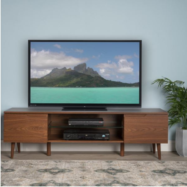 2018 Wooden Tv Stands For 55 Inch Flat Screen Regarding Smart Tv Stand Mid Century Modern Retro 55 Inch Flat Screen 4K Apple (Gallery 1 of 20)