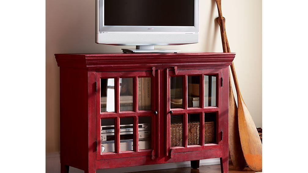 25 Attractive Red Tv Stand Pics Gallery (View 15 of 20)