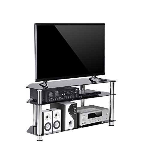 50 Inch Tv Stand Black: Amazon In Preferred Tv Stands For Corners (Gallery 12 of 20)