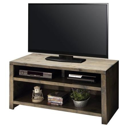 61 Inch Barnwood Finish Rustic Tv Stand – Joshua Creek (View 3 of 20)