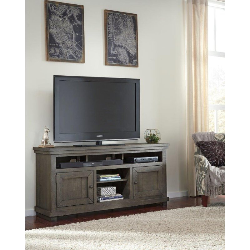 64 Inch Distressed Gray Tv Stand – Willow (Gallery 9 of 20)