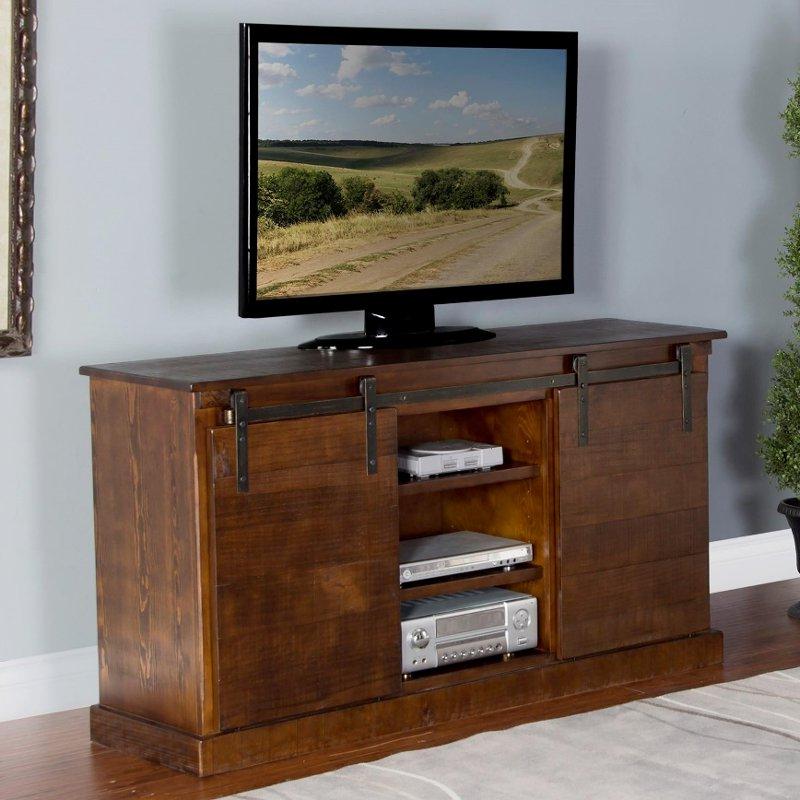 65 Inch Rustic Oak Barn Door Tv Stand (View 6 of 20)