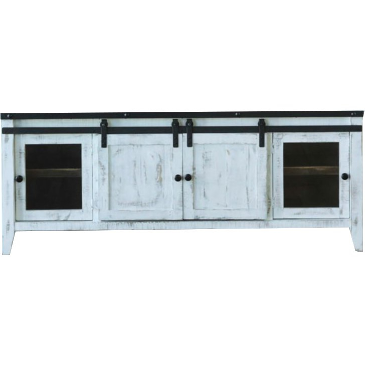 68 Inch Modern Distressed White Tv Stand (View 1 of 20)